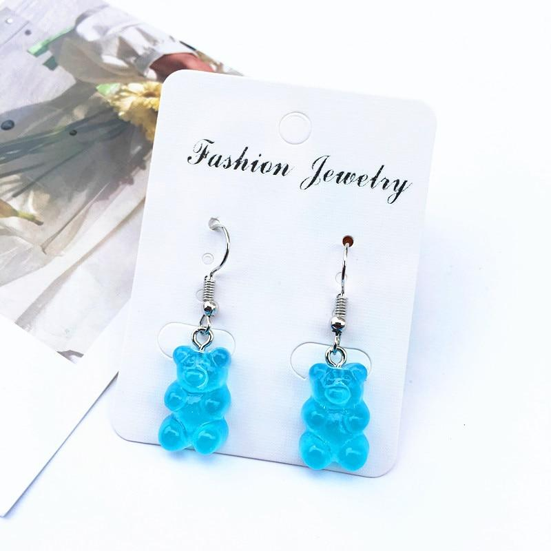Cute cartoon bear drop earring