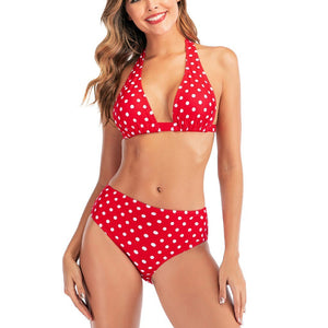 Dot Print Push Up Padded Swimsuit - Fashion Bug Online