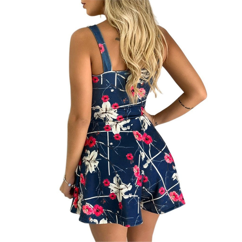 Dots bow-tie floral print rompers - Fashion Bug Online