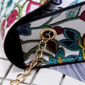 Dots embroidered flowers bag - Fashion Bug Online