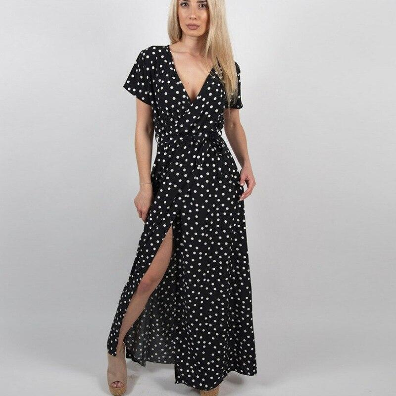 Dotted Loose Beach Dress - Fashion Bug Online