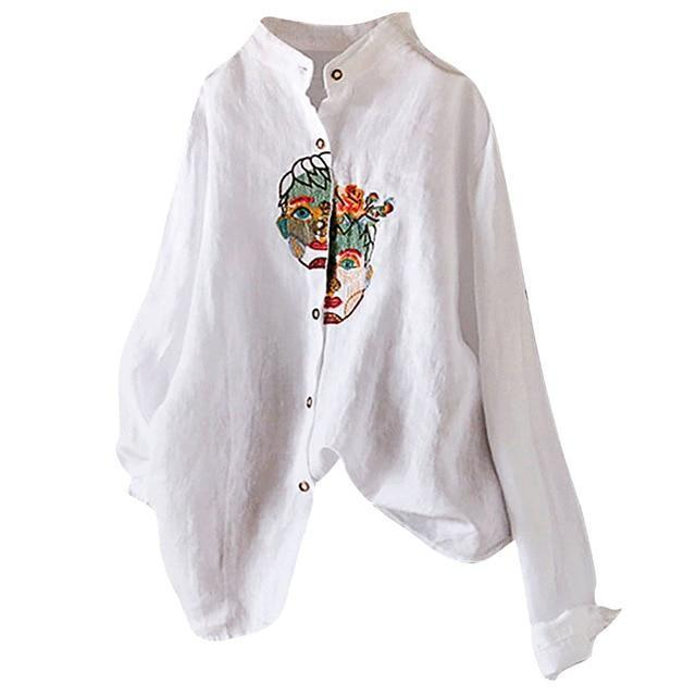 Double face embroidery casual shirt - Fashion Bug Online
