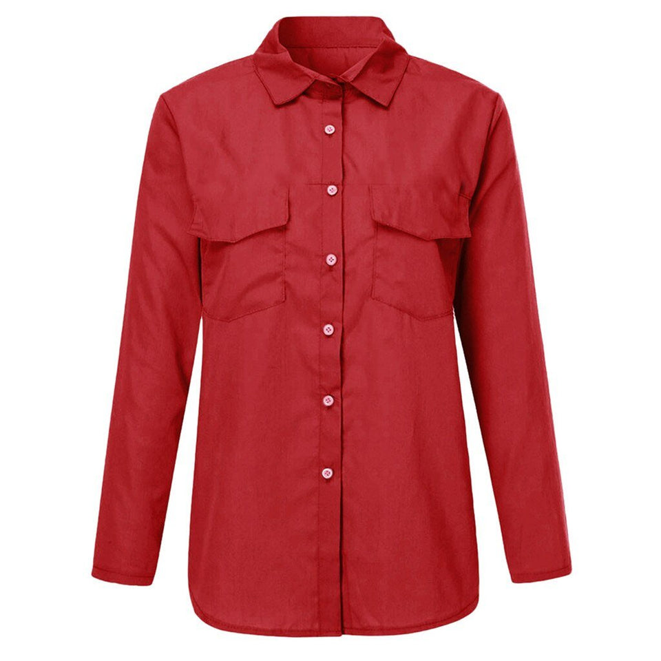 Elegant Double Pocket Top - Fashion Bug Online