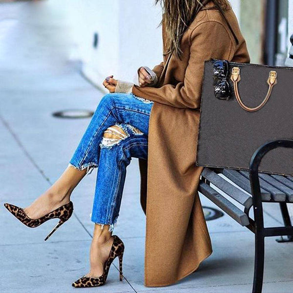 Elegant fashion leopard print stilettos - Fashion Bug Online