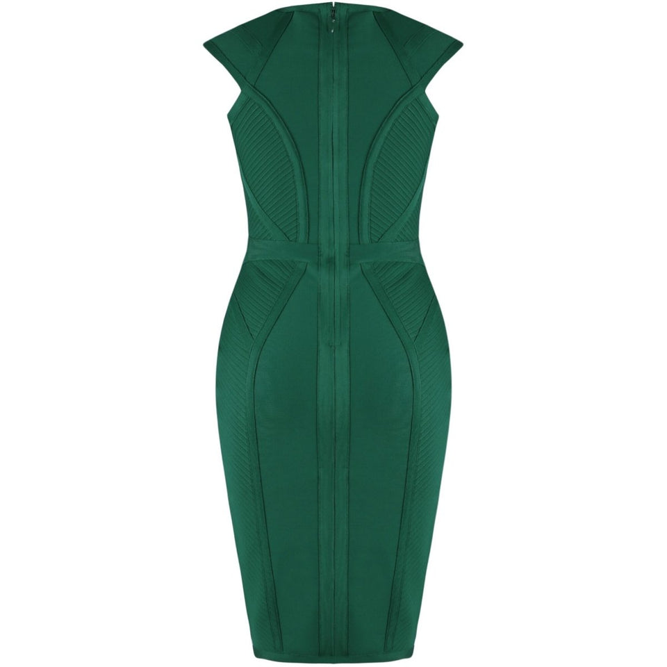 Elegant Green Bandage Dress - Fashion Bug Online