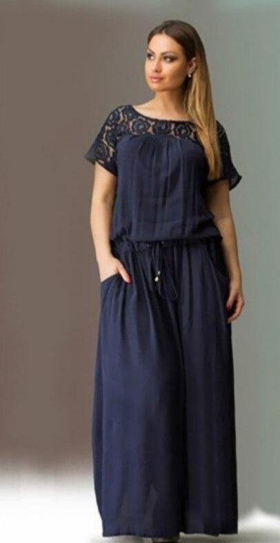 Elegant Lace Long Maxi Dress - Fashion Bug Online