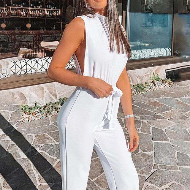 endless summer high collar jumpsuit - Fashion Bug Online