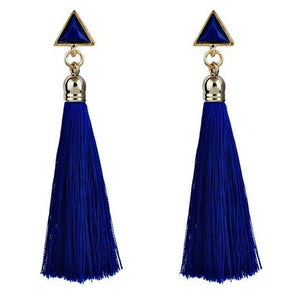 Ethnic hanging rope tassel earrings - Fashion Bug Online