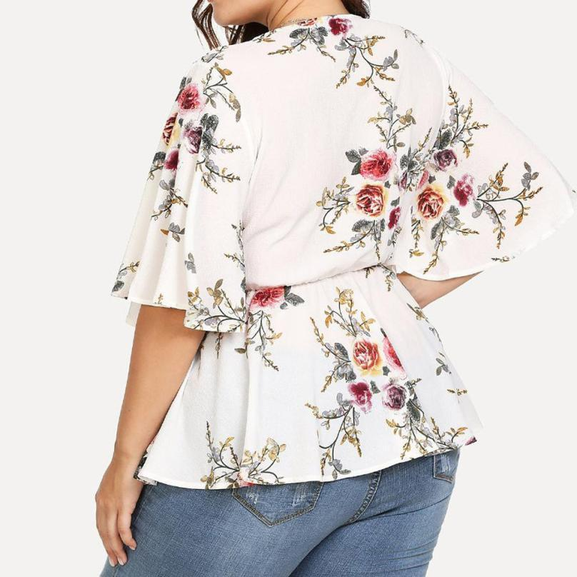 Flowery plus size loose blouse - Fashion Bug Online