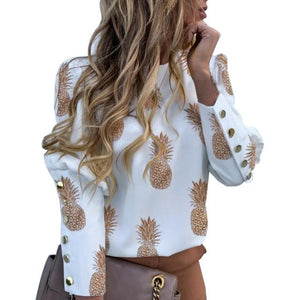 Fruity print puff sleeve blouse - Fashion Bug Online