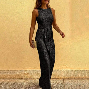 Glitter Strapless Jumpsuit - Fashion Bug Online