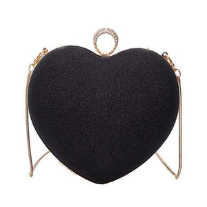 Heart shaped bling shoulder purse - Fashion Bug Online
