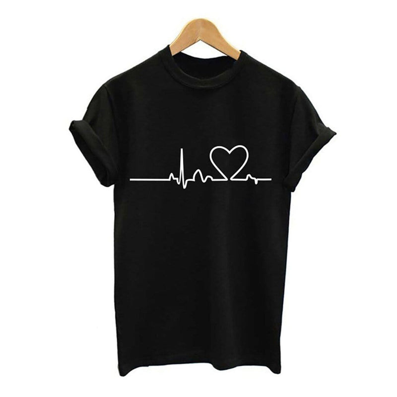 Heartbeat Print T-shirt - Fashion Bug Online