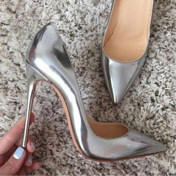 Hold me close Silver High Heels Pumps - Fashion Bug Online