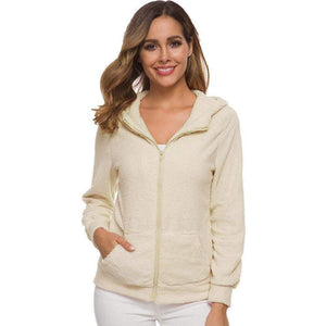 Hooded Soft Fleece Zip-up Top - Fashion Bug Online
