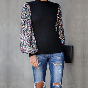 In the light sequined puff sleeve tops - Fashion Bug Online
