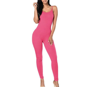 Little orniebear0629 Store Jumpsuits Hot Pink / L Only me skinny jumpsuit