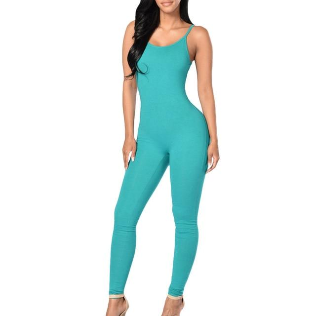 Little orniebear0629 Store Jumpsuits Mint / L Only me skinny jumpsuit