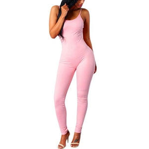 Little orniebear0629 Store Jumpsuits Pink / L Only me skinny jumpsuit