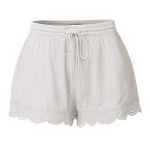 Laced High Waist Summer Shorts - Fashion Bug Online