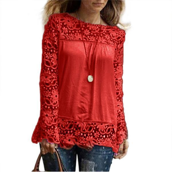 Lacey sleeve and fringes casual blouse - Fashion Bug Online