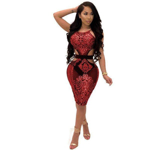Mesh Sequin Floral Bodycon Dress - Fashion Bug Online