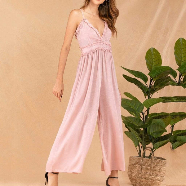 Playful pink camisole jumpsuit - Fashion Bug Online