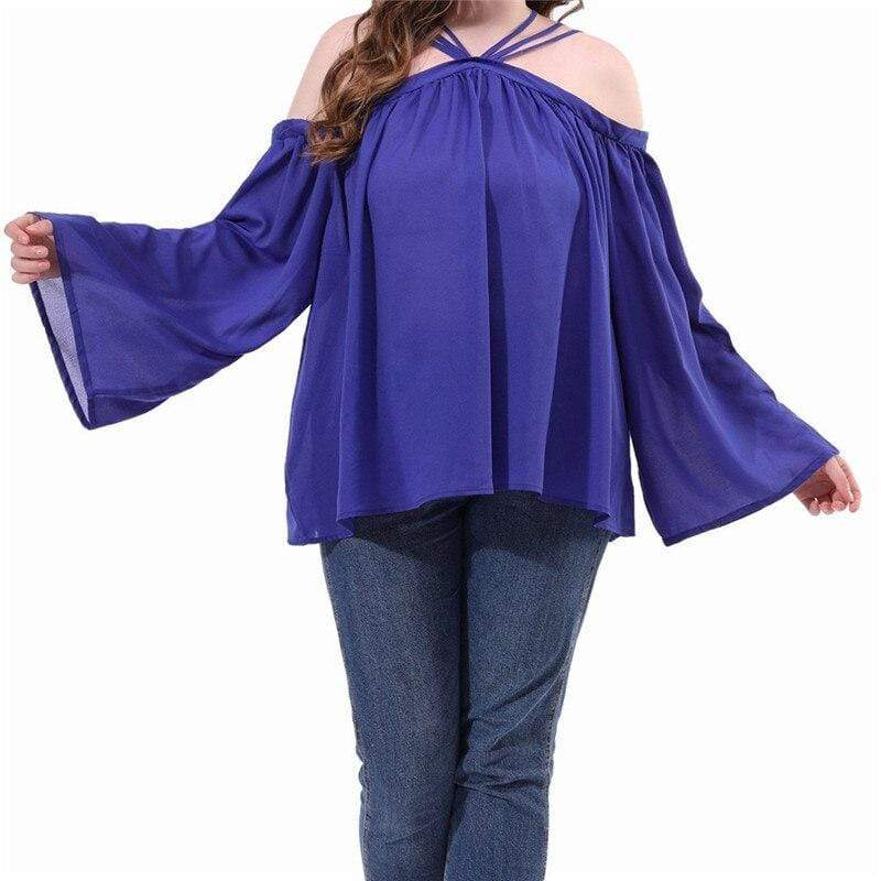 Plus Size Cutout Long Sleeve Top - Fashion Bug Online
