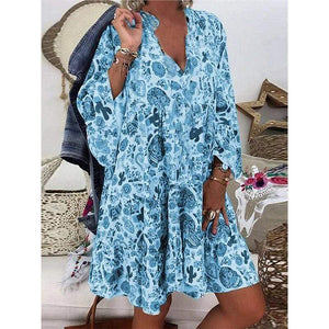 Printed Button Detail Tunic Top - Fashion Bug Online