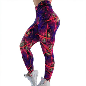 Purple Soft Naked-Feel Athletic Fitness Leggings - Fashion Bug Online