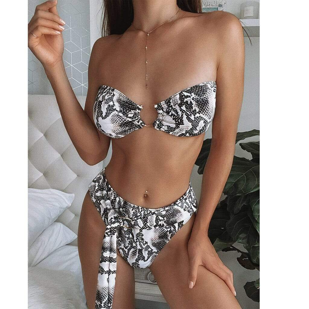 Ring Bandage Push-Up Bikini - Fashion Bug Online