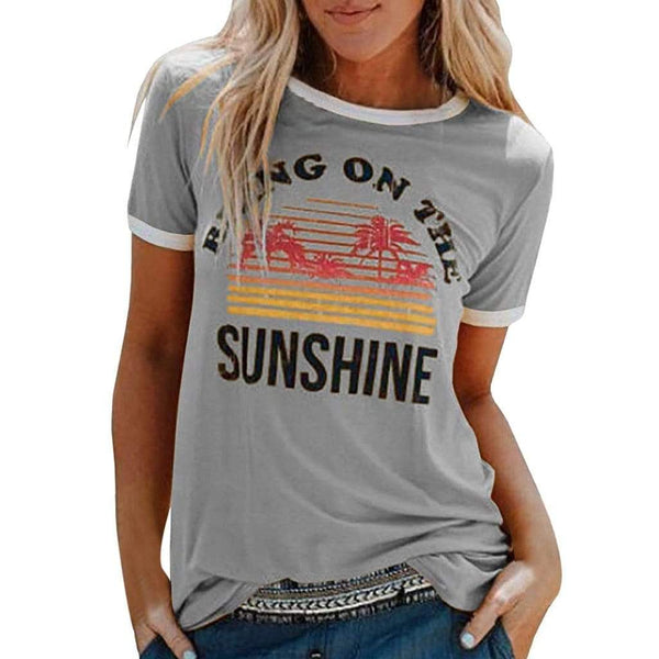 Rising on the sunshine print shirt - Fashion Bug Online