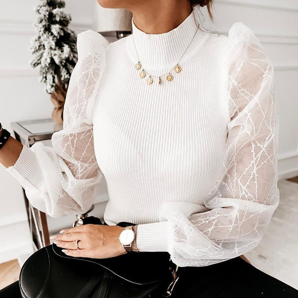 Sequined puff sleeve blouse - Fashion Bug Online