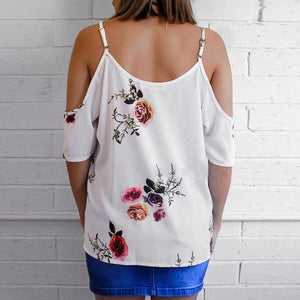 Simple floral off shoulder shirt - Fashion Bug Online