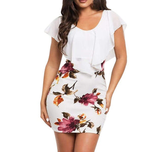 Sleeveless Floral Print Bodycon Dress - Fashion Bug Online