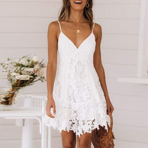 Sleeveless Solid A-Line Mini Dress - Fashion Bug Online