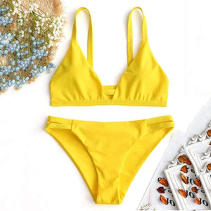 Sling Split Push-Up Swimsuit - Fashion Bug Online