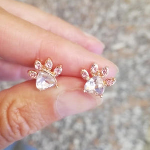 Small dog paw stud earrings - Fashion Bug Online