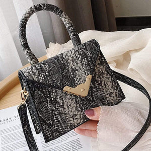 Snake print envelope styled bag - Fashion Bug Online