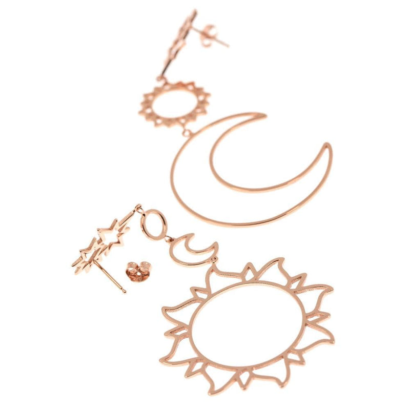 Solar system hollow earrings - Fashion Bug Online