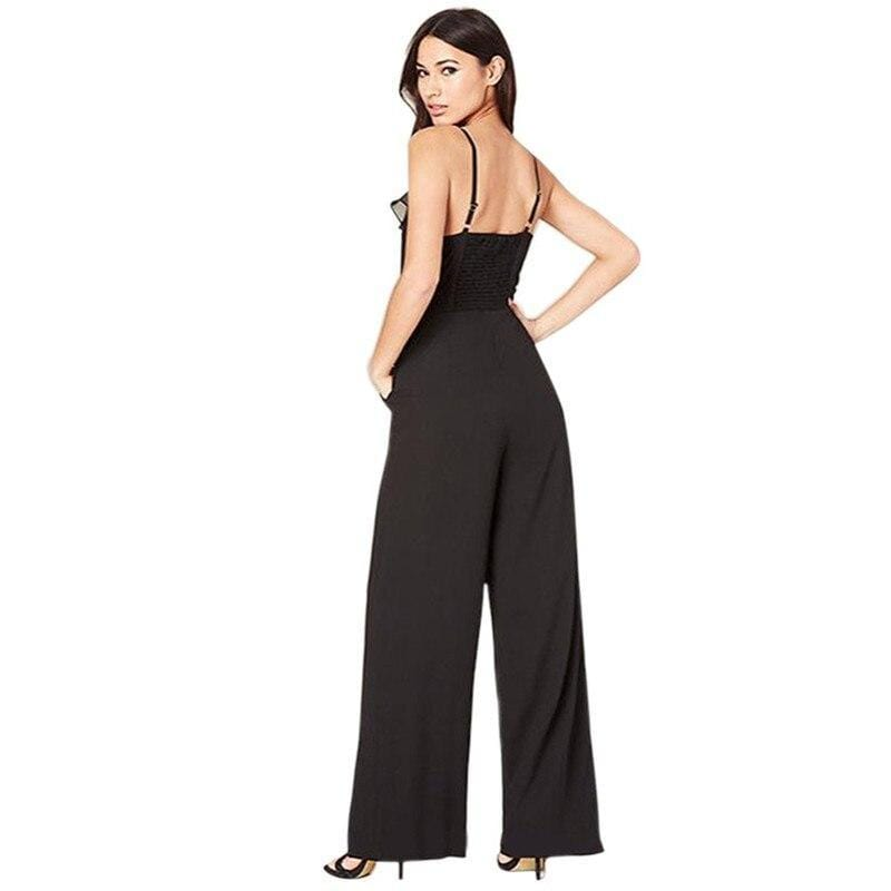 Spaghetti Straps Pockets Sleeveless Jumpsuit - Fashion Bug Online