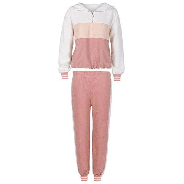 Splice Hooded Top and Pants Set - Fashion Bug Online