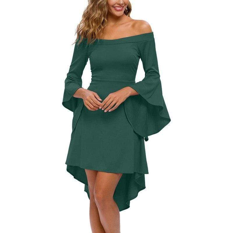 Summer Flare Sleeve Big Swing Dress - Fashion Bug Online