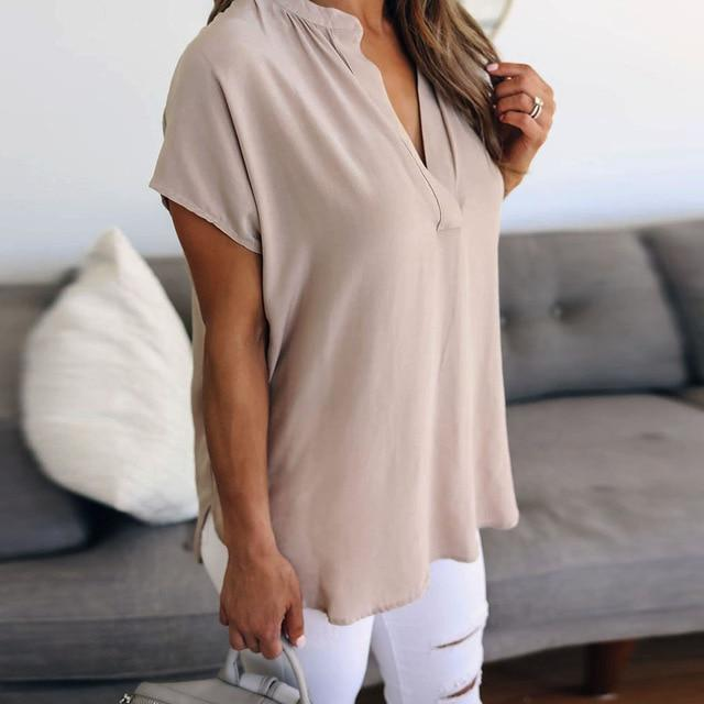 Super casual solid color chiffon top - Fashion Bug Online