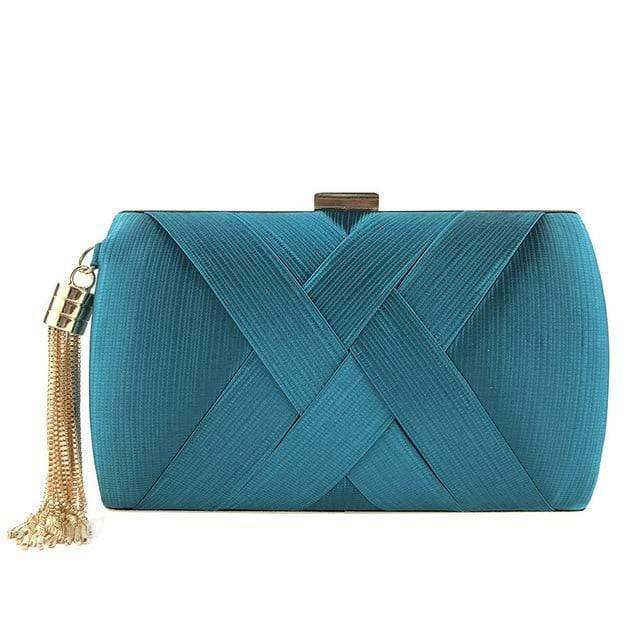 Tassel decorative X clutch purse - Fashion Bug Online
