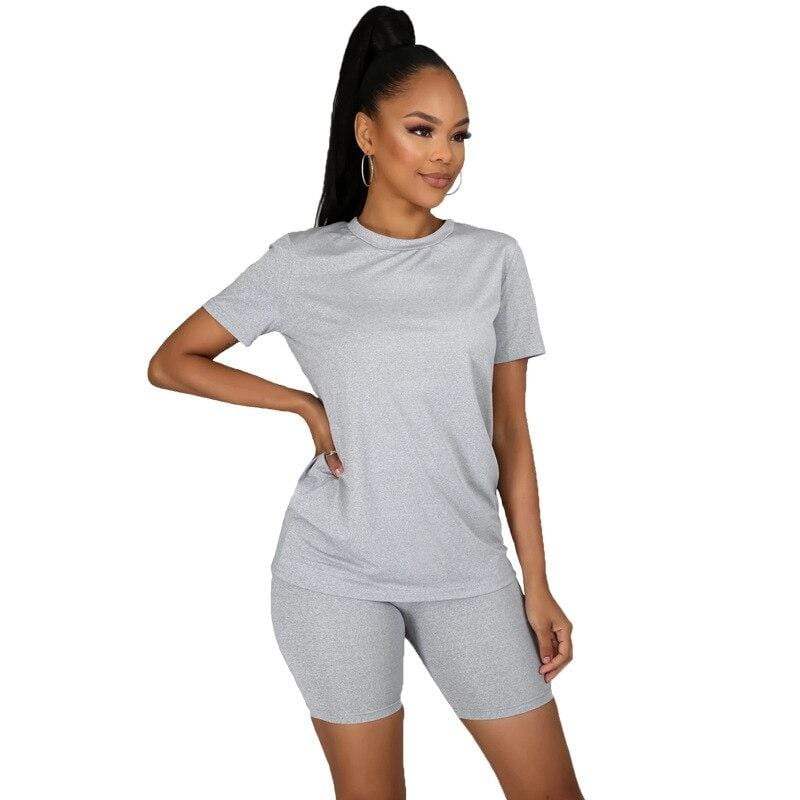 Tee Tops +Jogger Shorts Matching Set - Fashion Bug Online