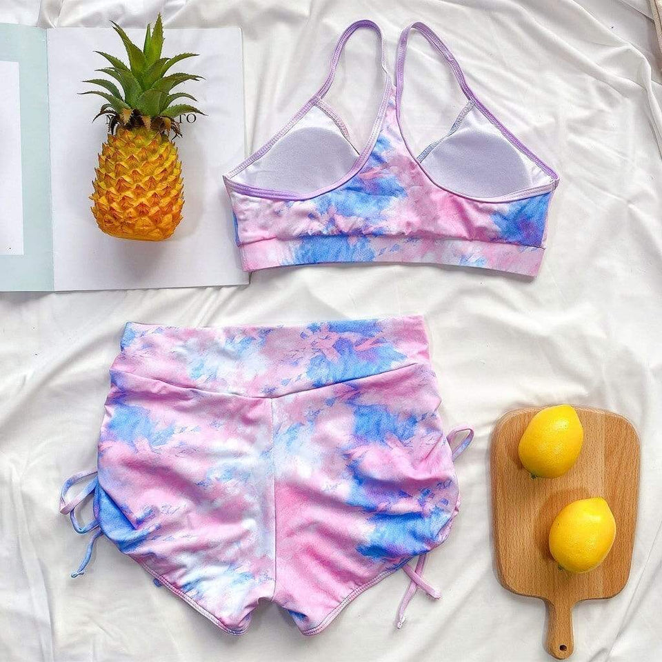 Tie-dye Camis Swimsuit - Fashion Bug Online