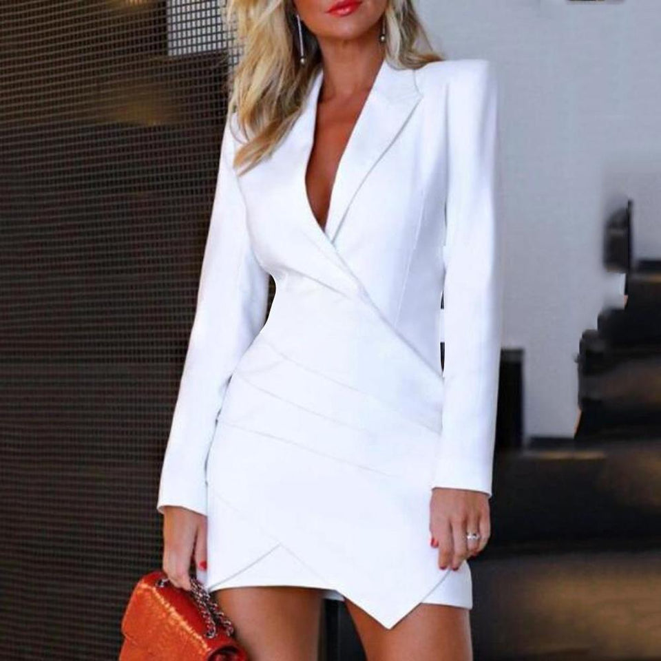Turn Down Formal Elegant Dress - Fashion Bug Online
