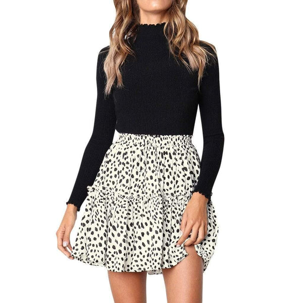 Vintage black dots mini skirt - Fashion Bug Online