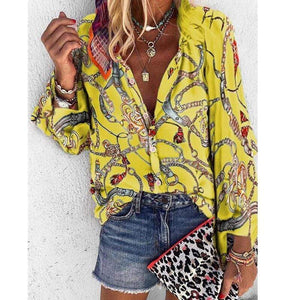 Vintage Chain Print Blouse - Fashion Bug Online